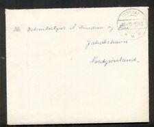 Greenland 1943 Official cover w/enclosed letter from Godthaab to Jakobshavn