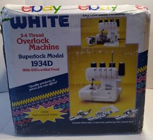💚NEW White Superlock Electronic 1934D Serger Sewing Machine BRILLIANT MACHINE!