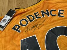 Wolves FC SIGNED Daniel Podence #1 Home Shirt Wolverhampton Wanderers New PROOF