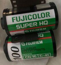 2 FUJICOLOR Super HQ 100-24 Colored Film 35mm 135 Expired DXf Lot