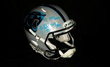 Luke Kuechly Panthers Speed Revolution Authentic Autograph Helmet JSA