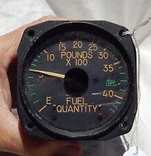 Usn Usmc Grumman F9F-2 Panther Jet Fighter Fuel Quantity Gauge Instrument