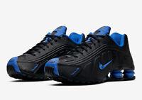 New Nike Shox R4 Running Shoes Black Game Royal Blue 104265-053 Men's Size 10