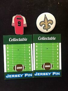 New Orleans Saints Drew Brees lapel pin & team pin-Great 4 caps-Collectables