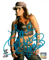 WWE MICKIE JAMES HAND SIGNED AUTOGRAPHED 8X10 PHOTOFILE PHOTO WITH PROOF & COA X