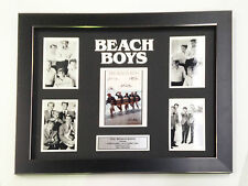 THE BEACH BOYS PROFESSIONALLY FRAMED, SIGNED PHOTO COLLAGE WITH PLAQUE