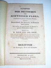 FLORE allemande suisse prusse : Deutschen schweizer Preussen Flora par KOCH 1838