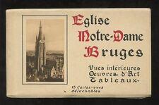 More details for belgium c1910 multi ppc booklet notre dame bruges...15 cards