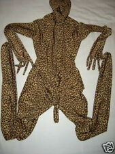 New! Zentai lycra spandex catsuit Costume leopard Add Penis sheath