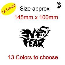 Calavera En No Fear! de vinilo gráfico Decal Sticker Auto, Laptop Bike etc. (Ref 3)