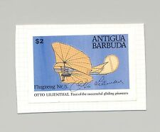 Antigua #1495 Glider, Aviation 1v Imperf Proof on Card