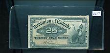 1900 Dominion of Canada 25 Cents Shinplaster  CH80