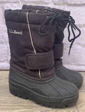 LL BEAN NORTH WOODS Waterproof WINTER BLACK SNOW BOOTS FELT LINED YOUTH SIZE 12