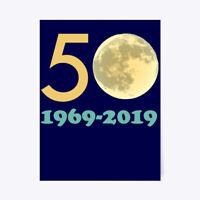"Custom 50th Anniversary Moon Landing Gift Poster - 18""x24"" Gift Poster - 18""x24"""