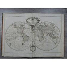 Robert de Vaugondy Atlas grand in folio cartes 76 x 56 cm complet Découverte coo