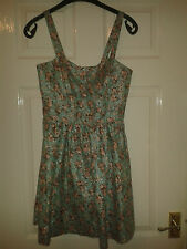 Womens Dress - Miss Selfridge - Mint Green & Pink Flowers - RARE PRESS SAMPLE