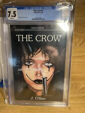 The Crow #1 CGC 7.5 (Caliber Press 1989) Jim O'Barr 1st Print White Pages