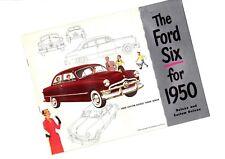 1950 FORD Brochure / Catalog: CUSTOM,TUDOR,DELUXE,COUPE,SEDAN,FORDOR,BUSINESS,