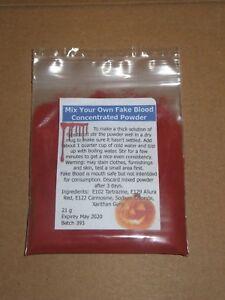 New Half Pint Fake Blood Powder / Mix it Yourself Halloween Makeup 250ml - 500ml