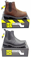 Leather Dealer Steel Toe Cap Safety Work Boots Shoes Crazy Horse  Brown or Black