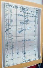 1959 PRR PA. Railroad Track Chart Turtle Creek Branch Murrysville Export Delmont