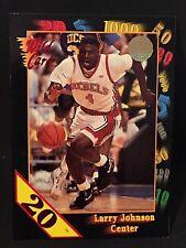 LARRY JOHNSON 1992-93 Wild Card Collegiate 20 STRIPE SP #24 UNLV Runnin' Rebels