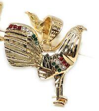 "Gallo Medalla Gold Plated Chicken Rooster Pendant Necklace 26"" Cadena Oro Lamina"