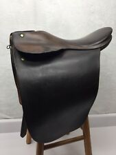 "Vtg Barnsby Lane Fox English Cutback Saddle 16.5"" w/ 5.5"" Gullet"