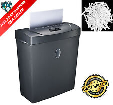 Electric Paper Shredder Cross Cut Document 8 Sheet Heavy Duty Office Home New