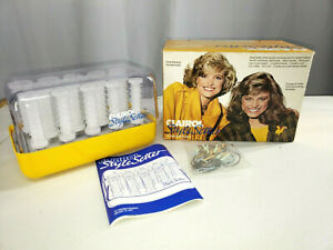 Clairol Style Setter Hot Roller Set Vintage C14y With Clips Hard Knobby Curlers