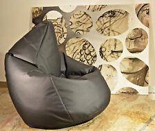 pouff poltrona sacco in Ecopelle VUOTO pouf puff puf nero