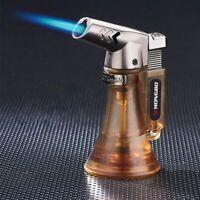 Visible Turbo Lighter Spray Gun Butane Cigar Cigarette Windproof Gas Lighters