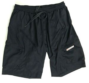 Bellwether Padded Black Cycling Shorts     Men's Baggy Fit  31 in Elastic Waist