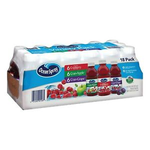 Ocean Spray Juice Drink Variety Pack (10 oz., 18 pk.)  Fresh shipping