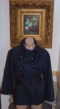 Beautiful Designer ZARA Ladies Gray Wool Belted Jacket M SPAIN