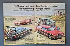 1978 Ford Station Wagon Pinto Fairmont LTD Club Van  2-page  Vintage Print Ad