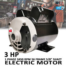 "3 HP Compressor Duty Motor 1 PH 3450 RPM 56 Frame 5/8"" Shaft 230V 15F.L.A  60Hz"