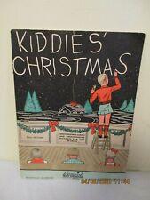 Vintage 1937 Kiddies' Christmas Combination Songbook & Coloring Book