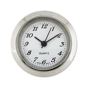 New Mini Quartz Clock Movement Insert, Arabic  Numerals 50 mm Ø Bezel Chrome