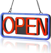 Led Neon Open Sign�21×10inch� Flashing & Steady Light�Ultra-Long Power.