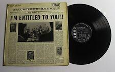 CHUBBY JACKSON'S BIG BAND I'm Entitled To...LP Argo Rec LP-625 US 1958 VG+ 12D