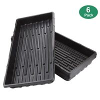 6 Packs Plastic Growing Trays Seed Tray Seedling Starter for Greenhouse HydY8O8