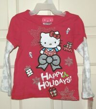 New Girls 18 Months Hello Kitty T-shirt Happy Holidays Christmas Long Sleeves