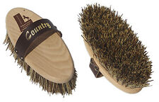 "Leistner Natural Bristle ""Country"" Mud Brush for Horse Grooming"