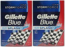 Gillette Storm Force Aftershave Splash würzigen Duft Männer NEU 2 x 3.4oz