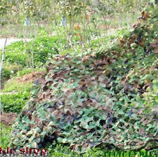 Woodland Leaves Camouflage Camo Net Netting 2Mx3M For Hunting Camping Military