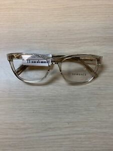 New Versace 3263-B  5288 54/17/140 Clear Frame 100% AUTHENTIC Eyeglasses
