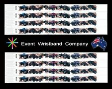 100 x Monster Truck Tyvek, party, security, wristbands