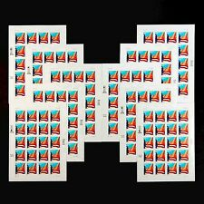 "Us Scott 3278 ""Flag Over City"" 33 Cents - 10 Full Adhesive Sheets Of 20 Each"