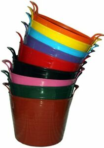 15L 26L 42L LARGE FLEXI Tubs flexible colour bucket for storage garden pet food